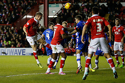 Matt Smith of Bristol City scores a goal to make it 1-0 (5-2 on aggregate) - Photo mandatory by-line: Rogan Thomson/JMP - 07966 386802 - 29/01/2015 - SPORT - FOOTBALL - Bristol, England - Ashton Gate Stadium - Bristol City v Gillingham - Johnstone's Paint Trophy Southern Area Final Second Leg.