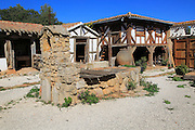 Bodega Museo Maserof restaurant vineyard, near Xalo or Jalon, Marina Alta, Alicante province, Spain