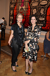 Left to right, ELISABETH ESTEVE and MOLLIE DENT-BROCKLEHURST at the Royal Academy of Arts Summer Exhibition Preview Party at The Royal Academy of Arts, Burlington House, Piccadilly, London on 7th June 2016.