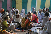 At an ashram during Kumbh Mela in Ujjain, Madhya Pradesh, India. The Kumbh Mela festival is a sacred Hindu pilgrimage held 4 times every 12 years, cycling between the cities of Allahabad, Nasik, Ujjain and Hardiwar. Kumbh Mela is one of the largest religious festivals on earth, attracting millions from all over India and the world. Past Melas have attracted up to 70 million visitors.