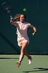 March 23, 2018 - Key Biscayne, FL, U.S. - KEY BISCAYNE, FL - MARCH 23: Daria Kasatkina (RUS) in action on Day 5 of the Miami Open at Crandon Park Tennis Center on March 23, 2018, in Key Biscayne, FL. (Photo by Aaron Gilbert/Icon Sportswire) (Credit Image: © Aaron Gilbert/Icon SMI via ZUMA Press)