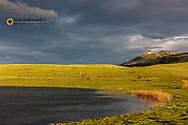 Bean Lake on the Rocky Mountain Front Range near Augusta, Montana, USA