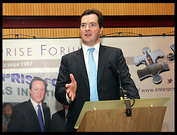 George Osborne at Enterprise Forum reception  at the Conservative Party Conference  in Birmingham, Tuesday 9th October 2012. Photo by: Stephen Lock / i-Images