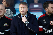 Doncaster Rovers Manager Grant McCann  during the EFL Sky Bet League 1 match between Scunthorpe United and Doncaster Rovers at Glanford Park, Scunthorpe, England on 23 February 2019.