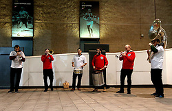 The England Supporters band play outside Wembley ahead of the International Friendly between England and Spain - Mandatory by-line: Robbie Stephenson/JMP - 15/11/2016 - FOOTBALL - Wembley Stadium - London, United Kingdom - England v Spain - International Friendly