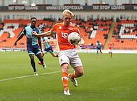 Blackpool's Mark Cullen<br /> <br /> Photographer Stephen White/CameraSport<br /> <br /> Football - The EFL Sky Bet League Two - Blackpool v Wycombe Wanderers - Saturday 20 August 2016 - Bloomfield Road - Blackpool<br /> <br /> World Copyright © 2016 CameraSport. All rights reserved. 43 Linden Ave. Countesthorpe. Leicester. England. LE8 5PG - Tel: +44 (0) 116 277 4147 - admin@camerasport.com - www.camerasport.com