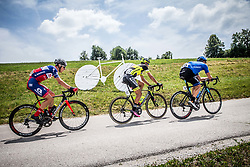 Gorazd Per (SLO) of KK Adria Mobil, Tomas Buchacek (CZE) of Elkov-Author Cycling team, Anton Vorobyev (RUS) of Gazprom-Rusvelo during Stage 2 of 24th Tour of Slovenia 2017 / Tour de Slovenie from Ljubljana to Ljubljana (169,9 km) cycling race on June 16, 2017 in Slovenia. Photo by Vid Ponikvar / Sportida