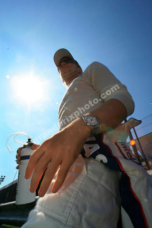 BMW driver Nick Heidfeld on the grid before the 2006 Italian Grand Prix in Monza. Photo: Grand Prix Photo