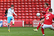 Josh Doherty shoots at goal during the EFL Sky Bet League 2 match between Walsall and Crawley Town at the Banks's Stadium, Walsall, England on 18 January 2020.