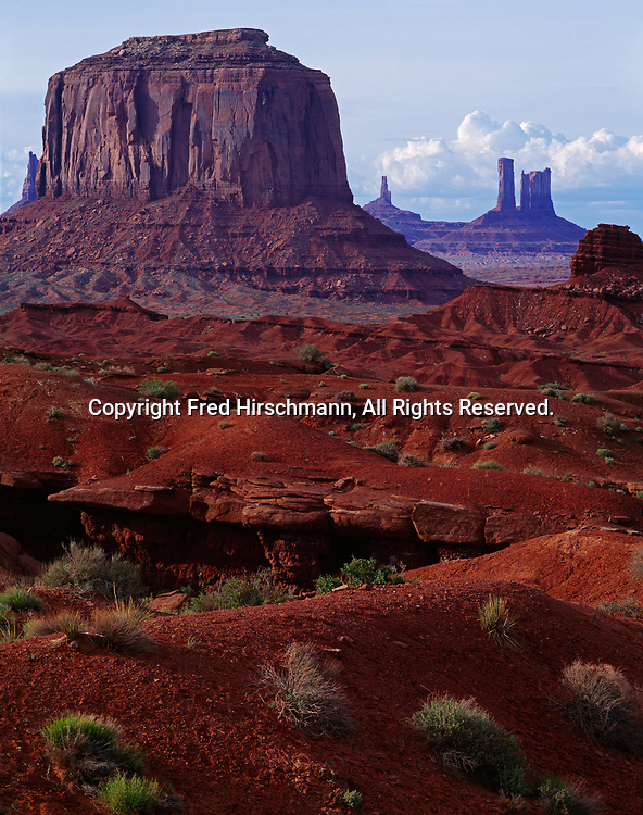 Merrick Butte, Cutler Formation, Monument Valley Tribal Park, Navajo Reservation, Utah and Arizona.