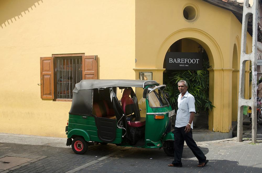A man walks along the street, Galle Fort, Sri Lanka