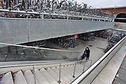 Nederland, Nijmegen, 5-3-2012Sinds kort bestaat de openbare fietsenstalling naast het station uit twee verdiepingen.Foto: Flip Franssen/Hollandse Hoogte