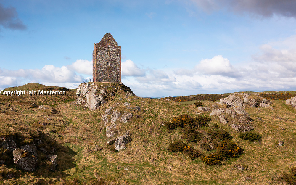 View of Smailholm Tower in the Scottish Border, Scotland UK