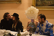 SPENCER TUNGATE; SADIE KIRSHMAN, Ball at to celebrateBlanche Howard's 21st and  George Howard's 30th  birthday. Dress code: Black Tie with a touch of Surrealism. Castle Howard. Yorkshire. 14 November 2015