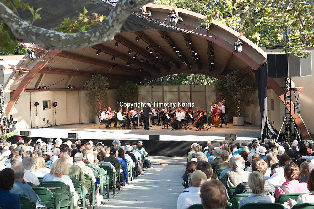 Reinbert de Leeuw conducts the Norwegian Chamber Orchestra performing John Adams' Shaker Loops at the 66th Ojai Music Festival on June 10, 2012 in Ojai, California.