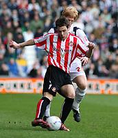 Photo: Mark Stephenson.<br />West Bromwich Albion v Sunderland. Coca Cola Championship. 03/03/2007.<br />Sunderland's Anthony Stokes on the ball