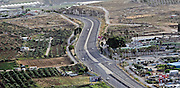 Aerial view of Highway 70 near Tamra, Israel