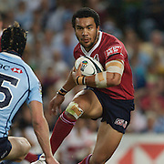 Digby Loane in action during the Super14 match between the New South Wales Waratahs and Queensland Reds at the Sydney Football Stadium, Sydney, Australia on March 6, 2009. The Waratah's won the match 15-11. Photo by Tim Clayton.