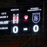 Besiktas's and Istanbul Basaksehir's during their Turkish Super League soccer match Besiktas between Istanbul Basaksehir at the Basaksehir Fatih Terim Arena at Basaksehir in Istanbul Turkey on Monday, 06 April 2015. Photo by Aykut AKICI/TURKPIX