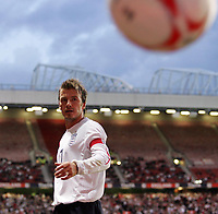 Photo: Paul Thomas.<br /> England v Hungary. International Friendly. 30/05/2006.<br /> <br /> David Beckham of England.