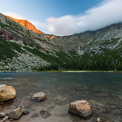 Chimney Pond and Mount Katahdin in Maine's Baxter State Park.