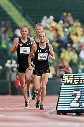 Olympic Trials Eugene 2012: men's 10,000 meter final, Olympic team qualifiers, Rupp, Tegenkamp, Ritzenhein