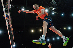 11-08-2019 NED: FIVB Tokyo Volleyball Qualification 2019 / Netherlands - USA, Rotterdam<br /> Final match pool B in hall Ahoy between Netherlands vs. United States (1-3) and Olympic ticket  for USA / Wouter Ter Maat #16 of Netherlands