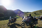 Riders stop at our campground at Morris Lake high in the Montana Rockies.