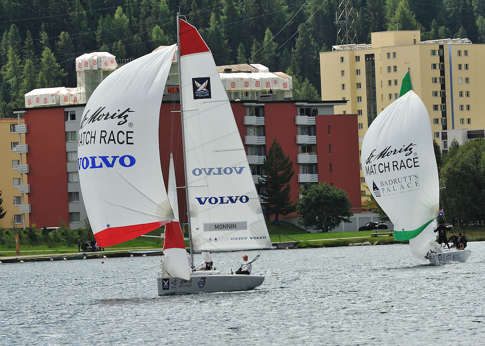 Mirsky and Monnin out in practice for the St. Moritz Match Race. Photo: Chris Davies/WMRT
