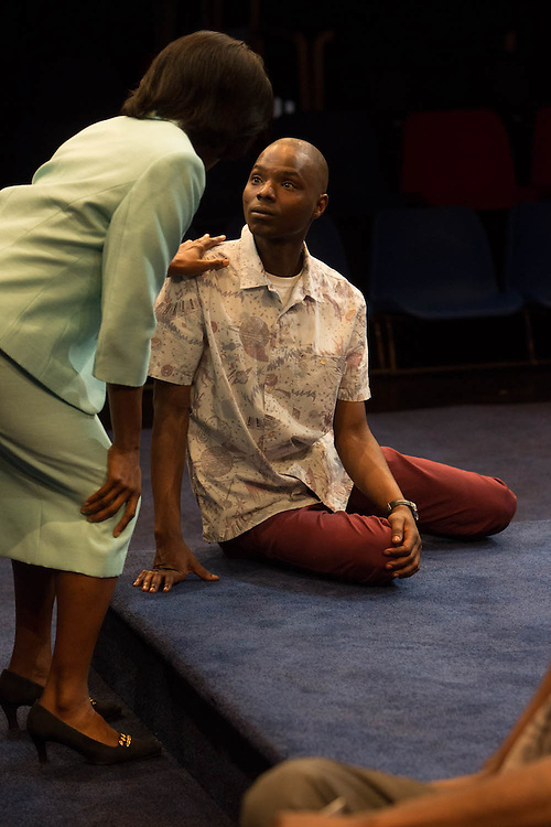 Royal Exchange Theatre World Premiere production of The Rolling Stone by Chris Urch, Directed by Ellen McDougall. Cast: Fiston Barek, Robert Gilbert, Sule Rimi, Ony Uhiara, Faith Omole, Donna Berlin.