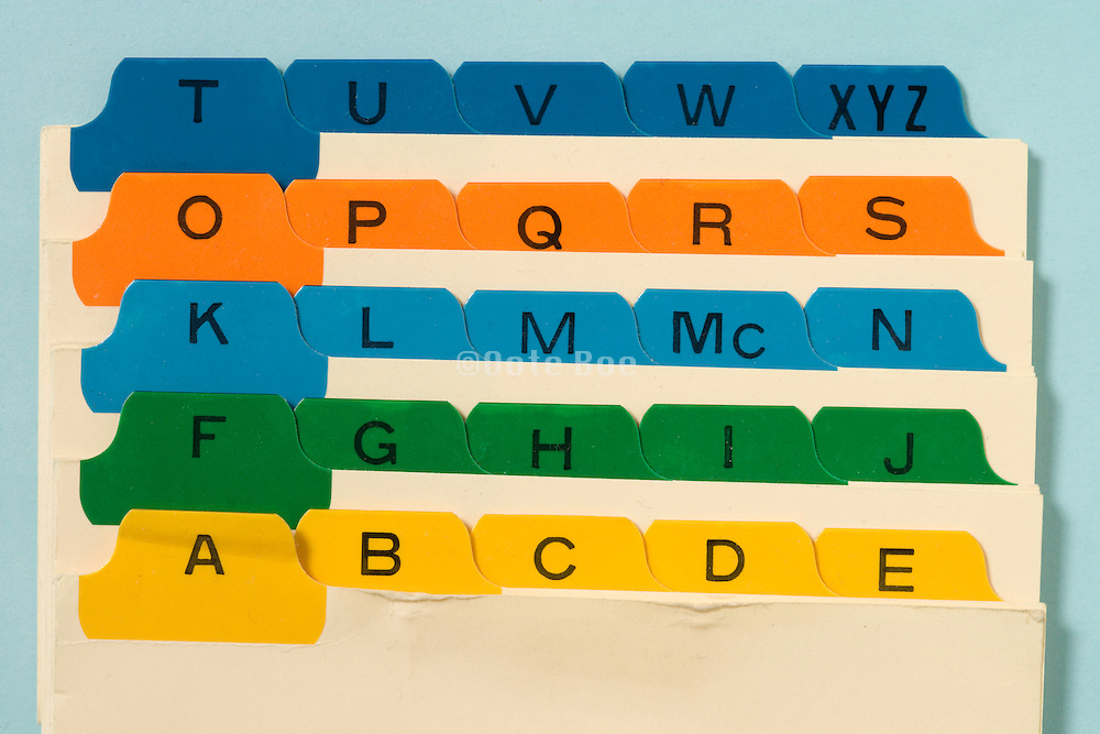 alphabet filing card system