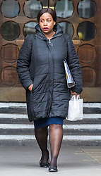 © Licensed to London News Pictures. 23/02/2018. London, UK. Takesha Thomas leaves the High Court after judges ruled that doctors at King's College Hospital can withdraw life support for her 11-month-old son Isaiah Haastrup who has suffered severe brain damage. Photo credit: Rob Pinney/LNP