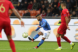 November 17, 2018 - Milan, Lombardia, Italy - Lorenzo Insigne (Italy) in action during the Nations League football match between Italy and Portugal at Stadio Giuseppe Meazza on November 17, 2018 in Milan Italy..Final results: 0-0. (Credit Image: © Massimiliano Ferraro/NurPhoto via ZUMA Press)