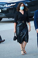 Isabel Diaz Ayuso attend Covid-19 mass Funeral at La Almudena Cathedral on July 6, 2020 in Madrid, Spain