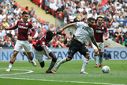 May 27, 2019 - London, England, United Kingdom - Bradley Johnson (15) of Derby County battles for possession with Axel Tuanzebe (4) of Aston Villa during the Sky Bet Championship Play Off Final between Aston Villa and Derby County at Wembley Stadium, London on Monday 27th May 2019. (Credit Image: © Mi News/NurPhoto via ZUMA Press)