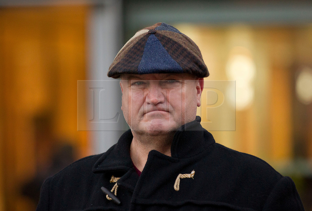 © Licensed to London News Pictures. 11/03/14 RMT union has confined its leader BOB CROW has died today. FILE PICTURE DATED: 02/01/2014. London, UK. RMT Union General Secretary Bob Crow is seen protesting over today's (02/01/2014) 3.1% rail fare rise outside King's Cross Station in London this morning. The rail fare rise came in to force today as most across the country returned to work for the start of 2014. Photo credit: Matt Cetti-Roberts/LNP