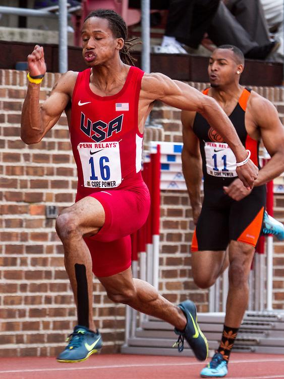 Penn RelaysOlympic Development Men's 100 meter Dash, race #478
