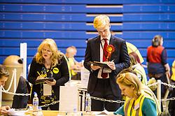 Pictured: <br /> The count of the postal votes has started just after the polls closed at Medowbank, Edinburgh<br /> <br /> Ger Harley | EEm 8 June 2017
