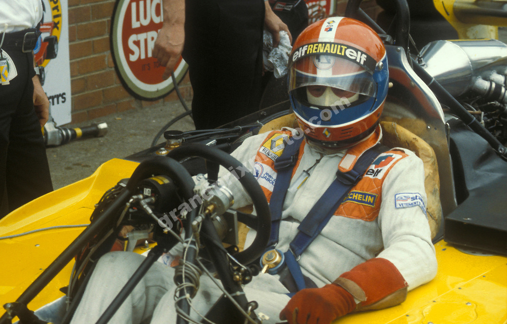 Jean-Pierre Jabouille in his Renault during practice for the 1979 South African Grand Prix in Kyalami. Photo: Grand Prix Photo
