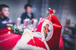 THEMENBILD - Nikolosackerl / Krampussackerl, während eines traditionellen Hausbesuchs der Nikoaus und Krampusgruppe Frieden, aufgenommen am 04. Dezember 2018 in Lienz, Österreich // Home visit from Krampus and Saint Nicholas. Krampus a mythical creature that, according to legend, accompanies Saint Nicholas during the festive season. Instead of giving gifts to good children, he punishes the bad ones, Lienz, Austria on 2018/12/04. EXPA Pictures © 2018, PhotoCredit: EXPA/ JFK