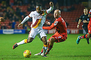 Bradford City midfielder Mark Marshall (7)  during the EFL Sky Bet League 1 match between Walsall and Bradford City at the Banks's Stadium, Walsall, England on 17 December 2016. Photo by Simon Davies.