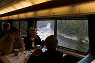 Restaurangvagnen på Amtraks tåg The Empire Builder. <br /> <br /> Foto: Christina Sjögren