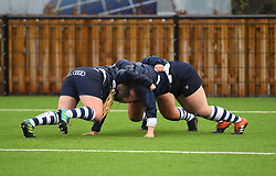 Bristol Bears Women warm-up before facing Richmond Women - Mandatory by-line: Paul Knight/JMP - 26/10/2019 - RUGBY - Shaftesbury Park - Bristol, England - Bristol Bears Women v Richmond Women - Tyrrells Premier 15s