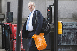 © Licensed to London News Pictures. 17/03/2021. London, UK. Liberal Democrat Party Leader Sir Ed Davey walks in Westminster. Later today the prime ministers former chief advisor Dominic Cummings will appear before the House of commons Science and Technology Committee.  Photo credit: George Cracknell Wright/LNP