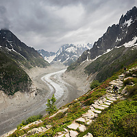 The Acre-Supply MTB shoot involved a 1300m hike to reach this spot, Chamonix, France.