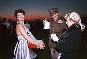 Cigarett girl at the Goodwood Revival Meeting Ball. 19 September 1998. © Copyright Photograph by Dafydd Jones 66 Stockwell Park Rd. London SW9 0DA Tel 020 7733 0108 www.dafjones.com
