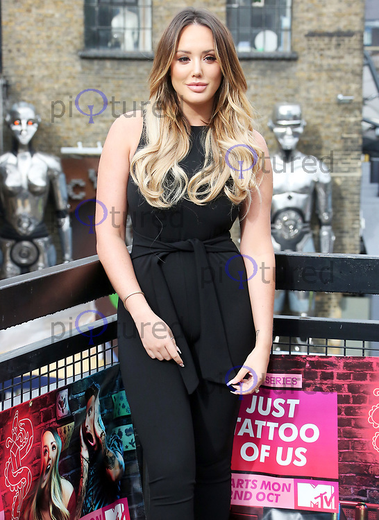 Charlotte Crosby, MTV Launches Pop-Up Tattoo Parlour with Charlotte and Bear as the Artists, Camden Market Stables, London UK, 19 September 2017, Photo by Brett D. Cove