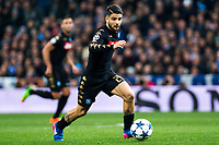 Lorenzo Insigne of Real Madrid in action during the match of Champions League between Real Madrid and SSC Napoli  at Santiago Bernabeu Stadium in Madrid, Spain. February 15, 2017. (ALTERPHOTOS)