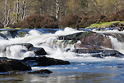 Section of rapids on the River Affric, near the car park at the top of Glen Affric.