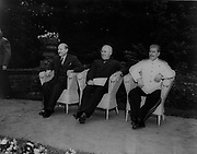 Potsdam Conference July 1945:  The Allied leaders, left to right, Clement Atlee (Britain), Harry Truman (USA) and Joseph Stalin (USSR)